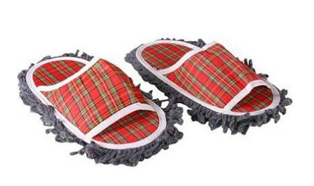 plaid-mop-slippers